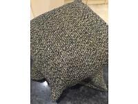 2 X 50cm X 50cm gold/silver/black scatter cushions