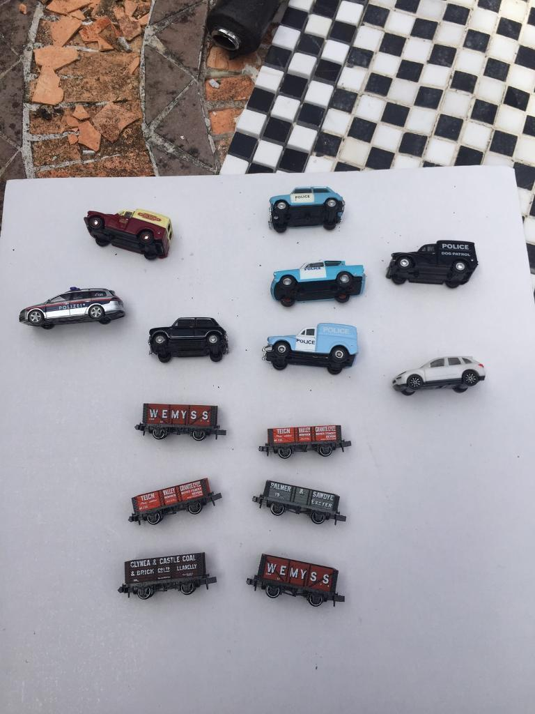 N gauge trains and bitsin Kingsteignton, DevonGumtree - N gauge trains , four carriages, six little ones plus cars all in vgc first to see will buy plus track