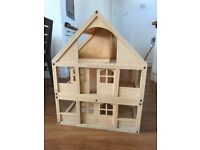 ELC wooden dolls house - three story - from smoke-free, pet-free home.
