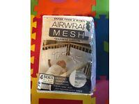 Baby cot airwrap mesh bumper
