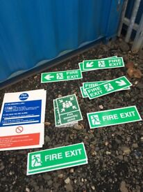 For Sale: various fire safety signs