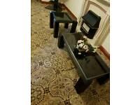 X2 black coffee tables