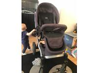 Chicco pushchair + carrycot and carseat