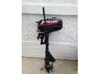 Mercury 2.5hp Outboard Motor (Condition is as new)