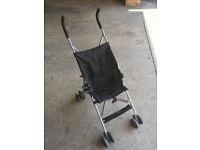 Baby pushchair black