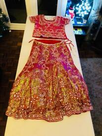 Wedding Lengha Red - BRAND NEW!