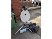 portable satellite dish complete