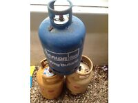 3 Empty Gas Canisters for sale