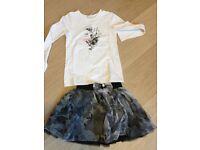 Girls designer skirt & top