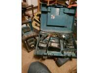 Makita site radio and cordless drill set.