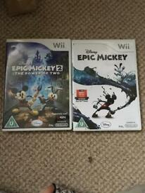 Nintendo WII epic mickey 1-2 in excellent condition