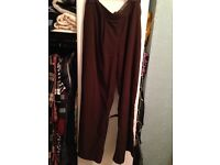 Brown trousers size 12