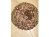 Woven wicker ceiling or lamp shade