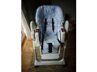 Chicco Adjustable/reclining/folding High Chair