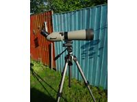 spotting scope Kowa TSN-821 82mm Angled Spotting Scope 32X Wide Angle Eyepiece