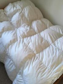 Double duck feather duvet 13.5 tog