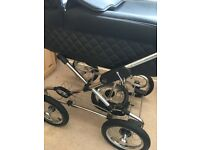 REDUCED £200 for quick sale Silver Cross Elegance Sleepover pram, car seat and accessories