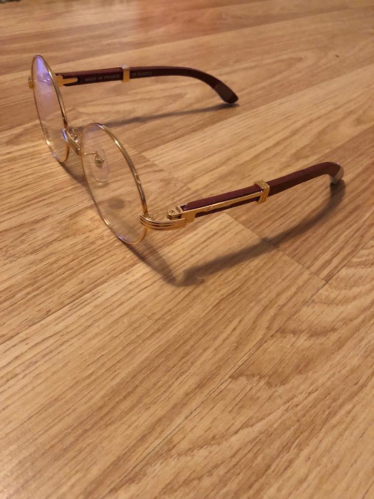 4946b2d6cd3 Cartier gold frame glasses