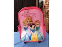 Girl's Disney Princess Pull along case/Rucksack