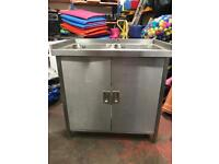 Commercial double sink unit