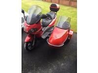 Piaggio x9 250 sidecar outfit