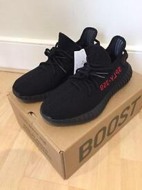 Adidas Yeezy Boost 350 v2 pirate black/red UK9 with receipt