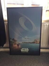 Star Wars Rouge One framed movie poster