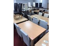 Table and 4 Fabric Chairs