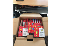 Box of ink cartridges for a printer