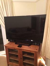 "55"" LG 3D TV inc LG Sound Bar and Sub Wooder"