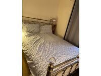 Bentley Design Krystal Champagne Brass Bedstead comes with a mattress and very good condition