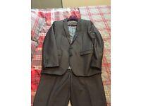 Men's dark grey suit