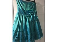 Girls Green Party Dress. Only worn once. Size 10. excellent condition.