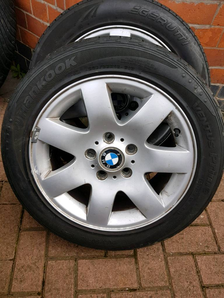BMW 16INCH ALLOYS WHEELS WITH TYRES