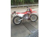 Motorbike trial bike four stroke 230 cc electric start low mileage 12 months mot vgc