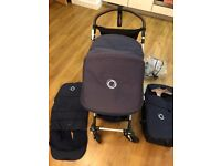 Bugaboo Cameleon 3 Pram Travel System in Navy incl Foot Muff, Sheep Skin, Bugaboo Carry Bag