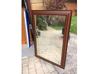 Wooden extra large mirror