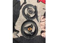 Yamaha ybr wheels and sprocket