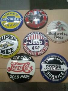 CLASSIC GASOLINE OIL AND SODA SIGNS