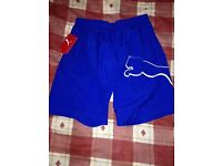 **Brand New With Tags** Puma Shorts - Mens - Colour Blue - Size Small - £5