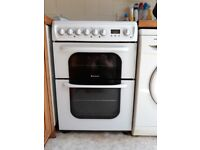 Hotpoint 62DCW double oven electic cooker – very clean