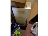 gloss off white cupboard doors and 2 units