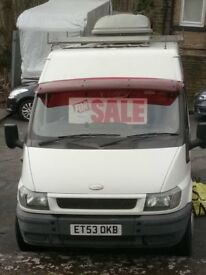 total refurbished camper van. dual purpose vehicle