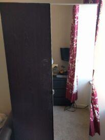 Black Wardrobe with mirror door
