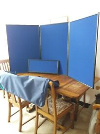 2 tabletop folding exhibition display boards for sale