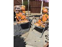 Vintage sun chairs