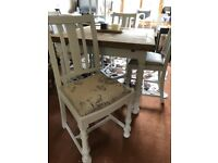 Extending Farmhouse Dining Table and Chairs