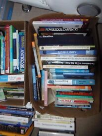 Huge job lot of books, non fiction, text books, biographies, reference