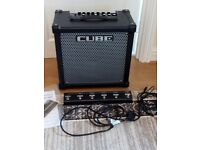 Roland Cube-80GX Guitar Amp / Roland GA-FC Amp Footswitch/ cover