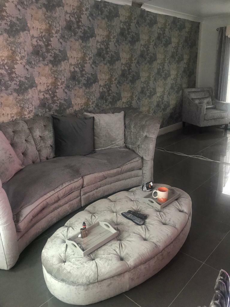Large curved sofa | in Uddingston, Glasgow | Gumtree